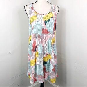 1. STATE Pleated Sleeveless Dot Summer Shift Dress